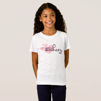 Lovely Pink Hearts Happy Mother's Day Jersey Shirt