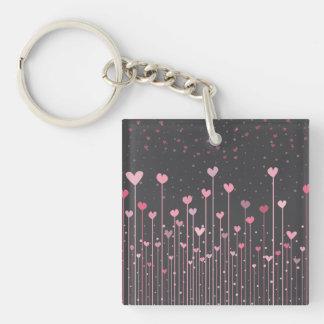Lovely Pink Hearts Valentine's Day Keychain