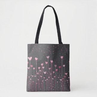 Lovely Pink Hearts Valentine's Day | Tote Bag