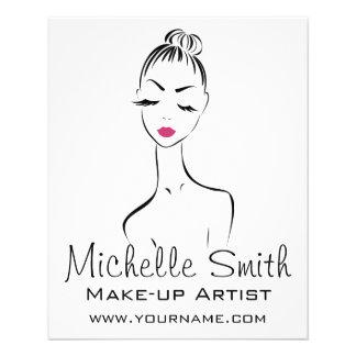 Lovely pink lips make up artist  branding flyer