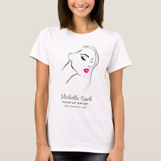Lovely pink lips make up artist  branding T-Shirt