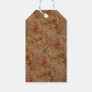 Lovely Pink Parisian Rose Collage Tags