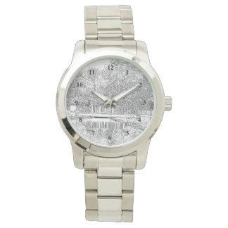 Lovely Pond in Black and White Watches