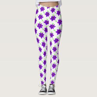 Lovely Purple Flowers Leggings