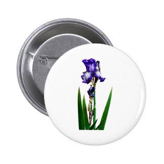 Lovely Purple Iris 2 Inch Round Button