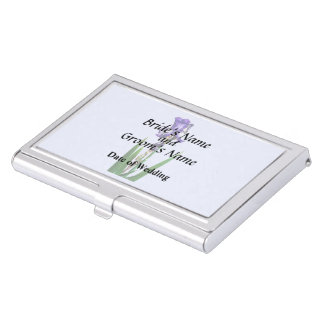 Lovely Purple Iris Business Card Holder