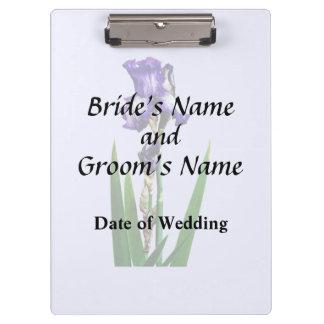 Lovely Purple Iris Clipboard