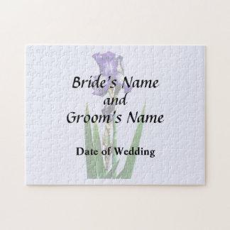 Lovely Purple Iris Jigsaw Puzzle