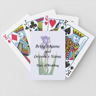 Lovely Purple Iris Poker Deck