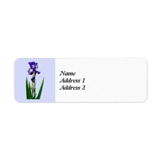 Lovely Purple Iris Save the Date