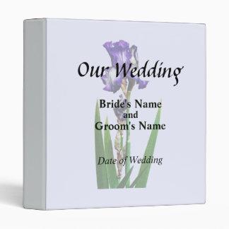Lovely Purple Iris Vinyl Binders
