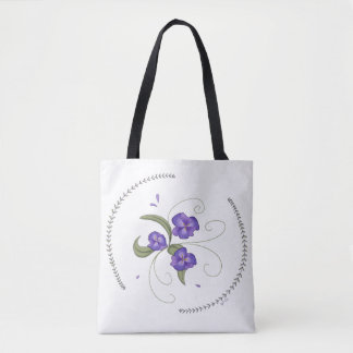 Lovely Purple Pansies Tote
