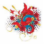 lovely red bird vector art acrylic cut outs