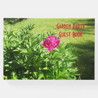 Lovely Red Rose Guest Book