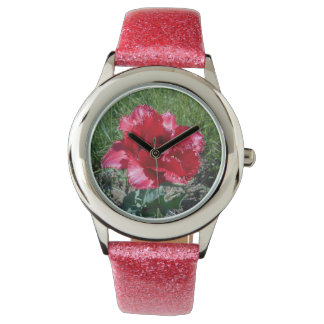 Lovely Red Tulip Watch