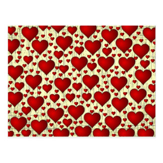 Lovely Red Valentine Heart Attack Postcard