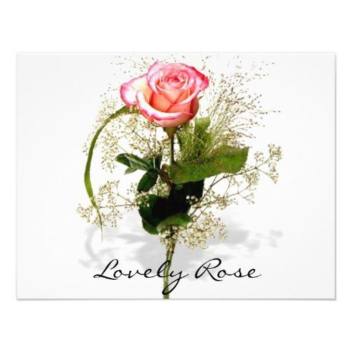Lovely Rose Collection Personalized Announcements