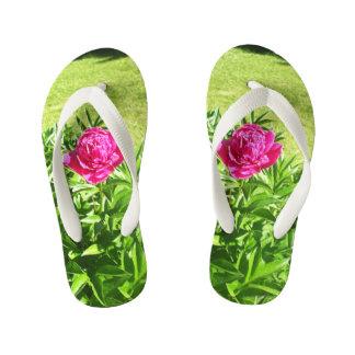 Lovely Rose Flower Kid's Flip Flops