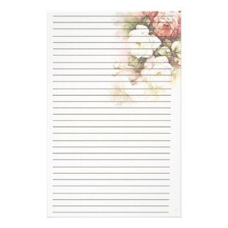 Lovely Roses Lined Stationery
