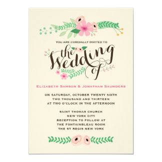 Lovely Rustic Garden Wedding Invitation