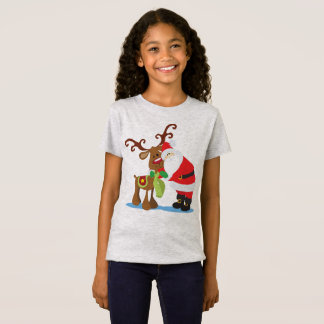 Lovely Santa Claus and Reindeer | Jersey Shirt