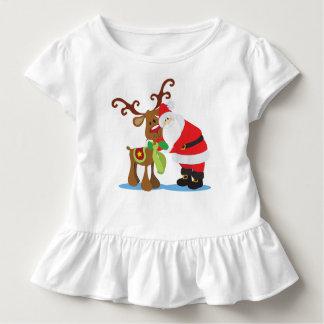 Lovely Santa Claus and Reindeer | Ruffle Tee