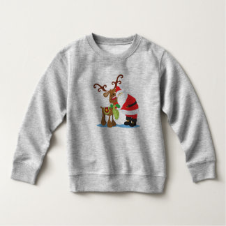 Lovely Santa Claus and Reindeer | Sweatshirt