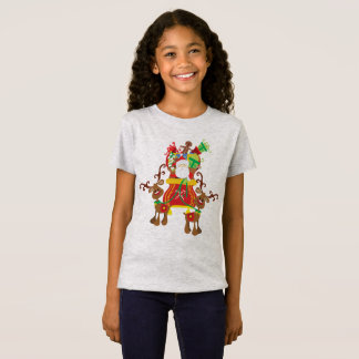 Lovely Santa Claus and Reindeers | Jersey Shirt