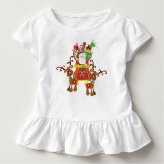 Lovely Santa Claus and Reindeers | Ruffle Tee