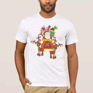 Lovely Santa Claus and Reindeers | Shirt