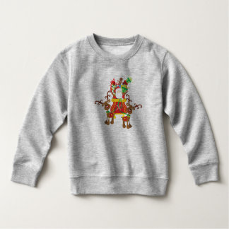 Lovely Santa Claus and Reindeers | Sweatshirt