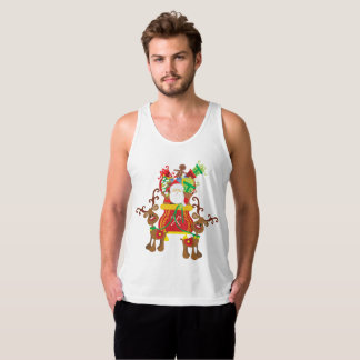 Lovely Santa Claus and Reindeers | Tank Top