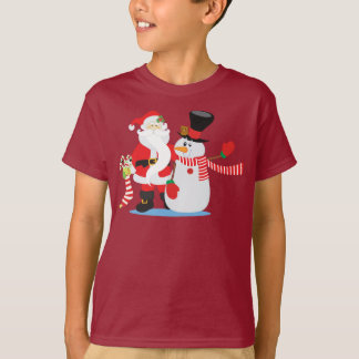 Lovely Santa Claus and Snowman | Shirt