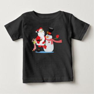 Lovely Santa Claus and Snowman   Shirt