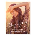 Lovely Script Graduation Announcement /Invitation Postcard