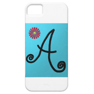 Lovely Script Letter A Case iPhone 5 Cover