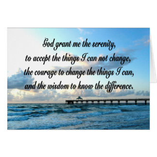 LOVELY SERENITY PRAYER OCEAN AND WAVES PHOTO CARD