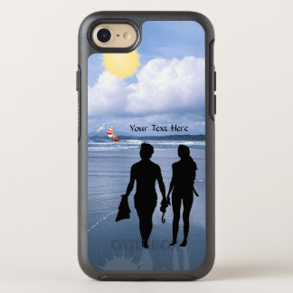 Lovely Silhouette of Husband & Wife at the Beach OtterBox Symmetry iPhone 7 Case