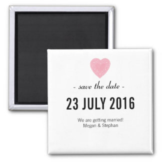 Lovely & Simple Wedding Save The Date Magnet
