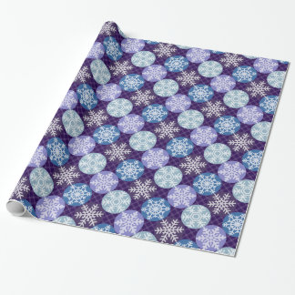 Lovely Snowflakes Winter Christmas Pattern Wrapping Paper