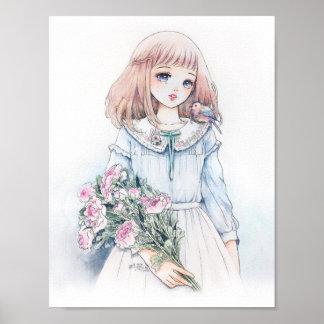 Lovely spring girl poster