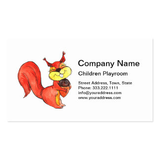 Lovely Squirrel Children Playroom Business Card