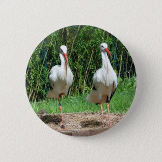 Lovely Stork 2 Inch Round Button