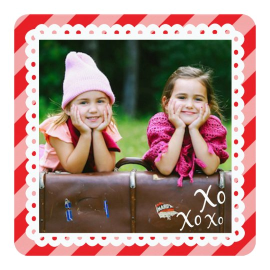 Lovely Stripes Valentine Photo Card