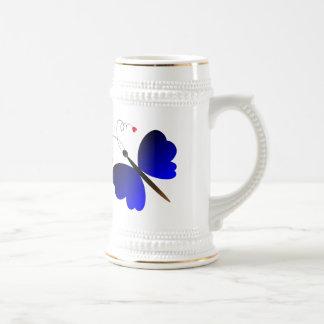 Lovely summer butterflies design beer stein