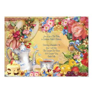 Lovely Tea Party Invitations
