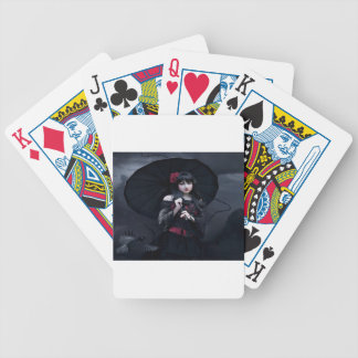 Lovely Teary Eyed Beauty Bicycle Playing Cards