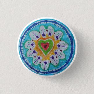 Lovely tie dye hippie heart 1 inch round button