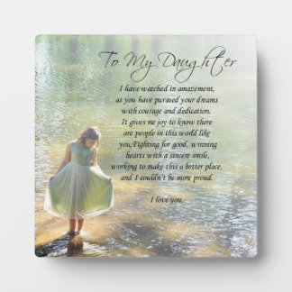 "Lovely ""To My Daughter"" Gift Plaque"