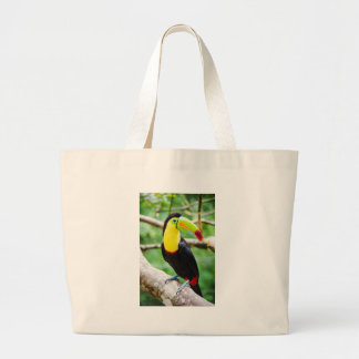 Lovely Toucan Large Tote Bag